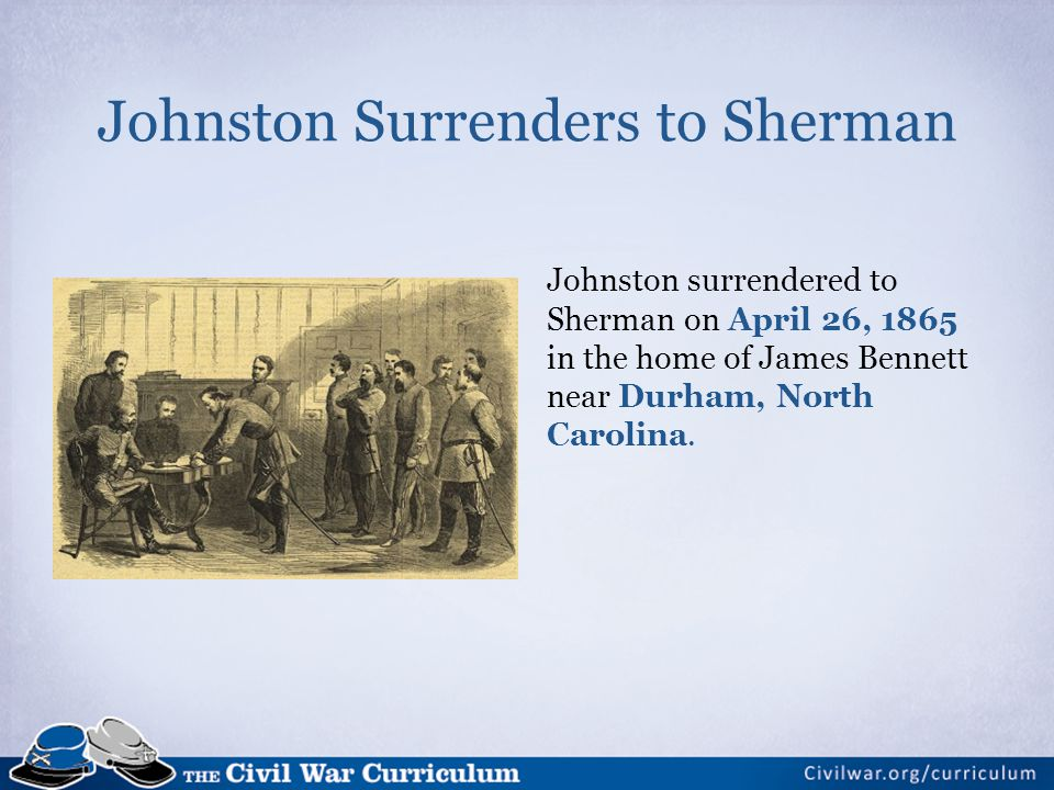 Johnston Surrenders to Sherman