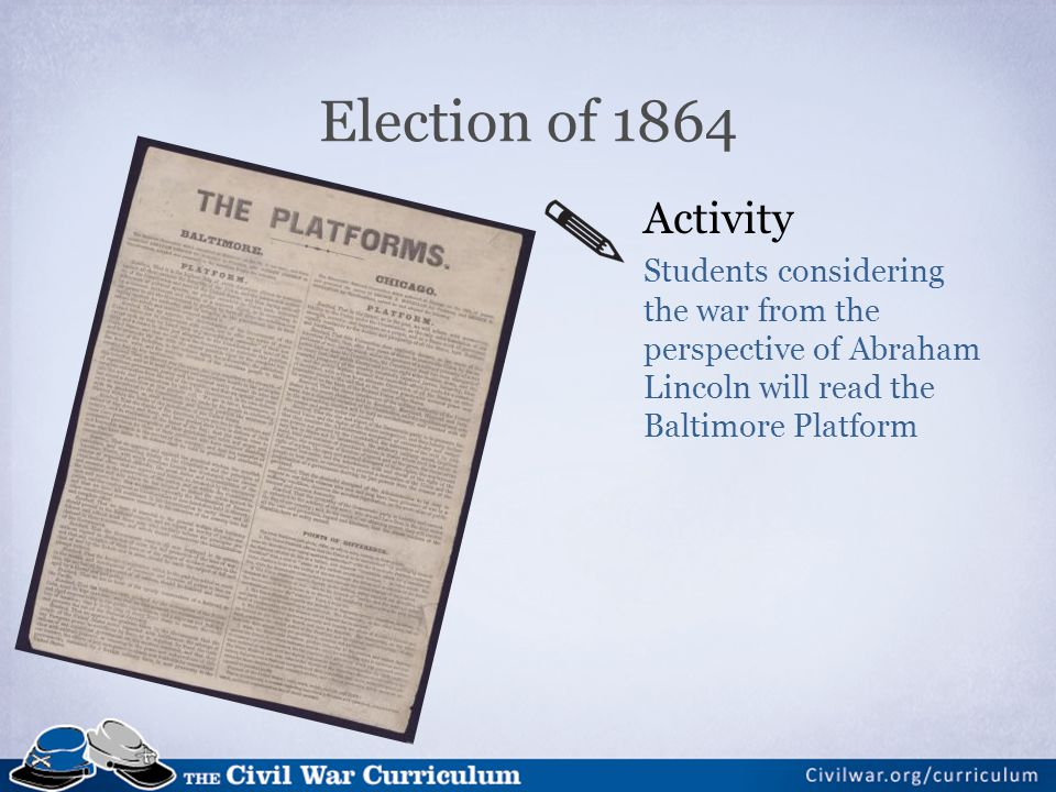 Election of 1864 Activity.
