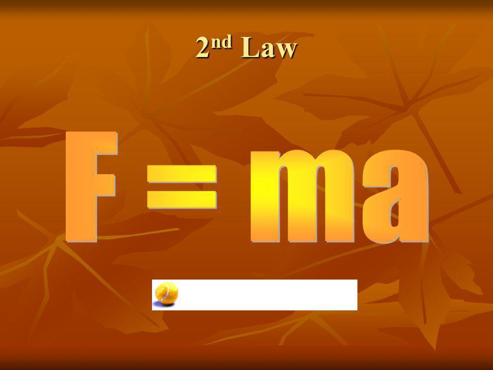 2nd Law F = ma