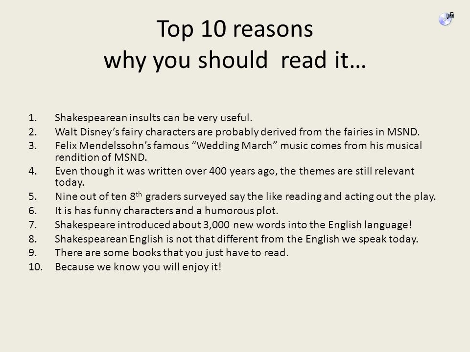 Top 10 reasons why you should read it…