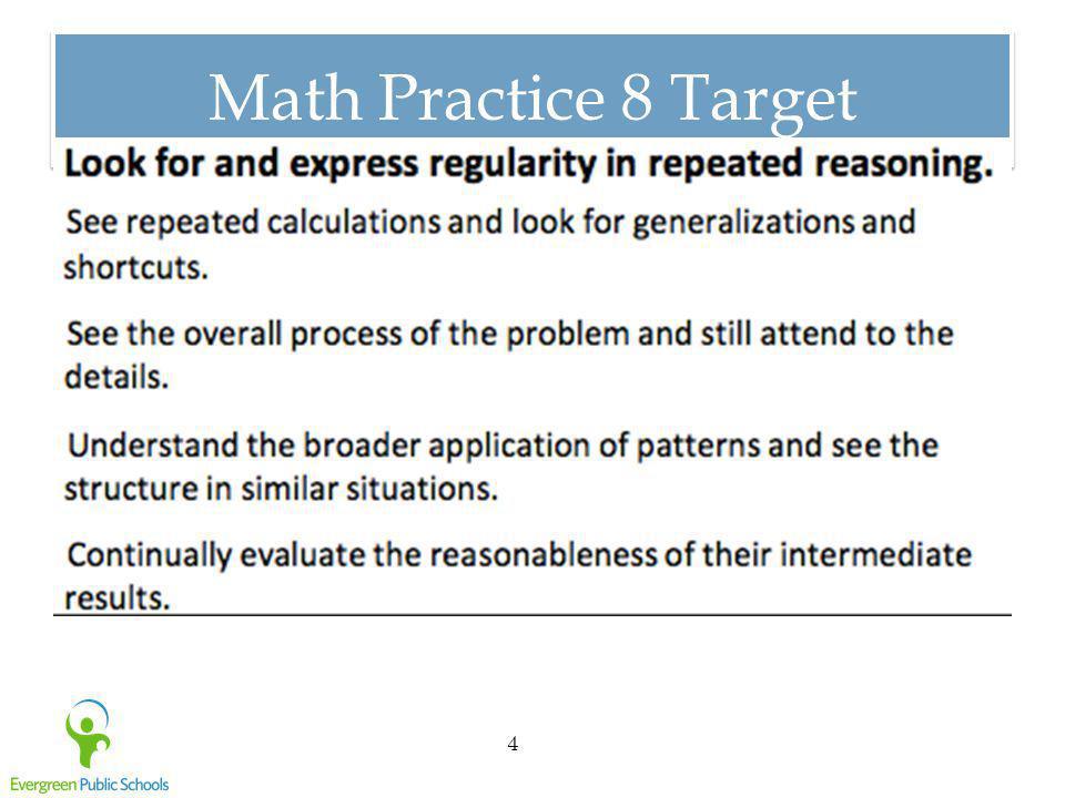 Math Practice 8 Target