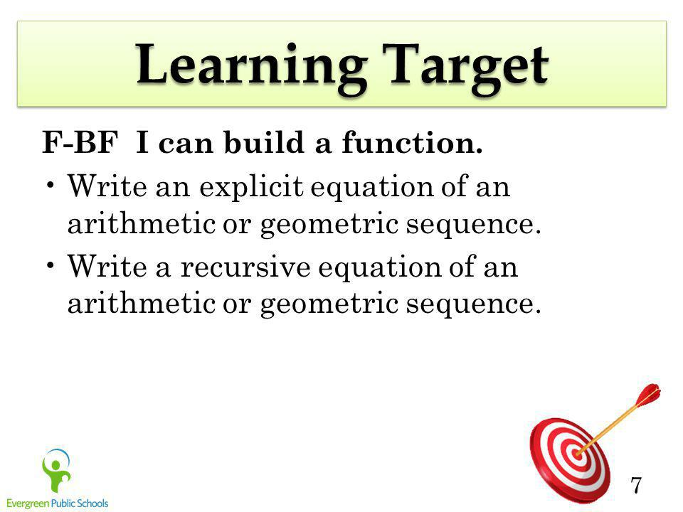 Learning Target F-BF I can build a function.