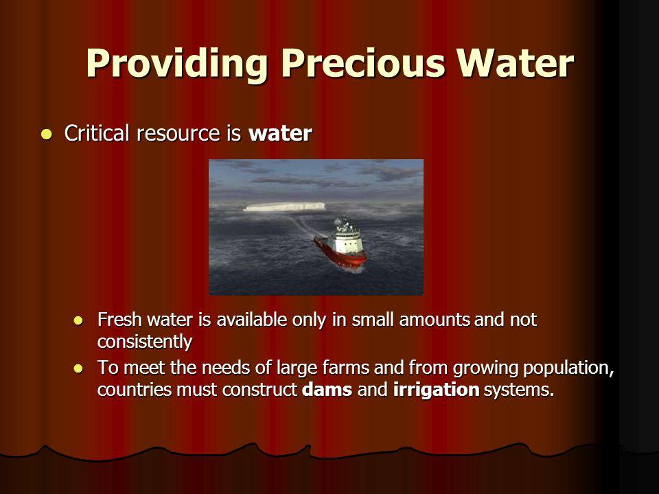 Providing Precious Water