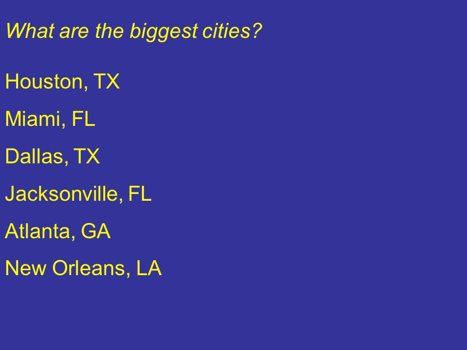 What are the biggest cities