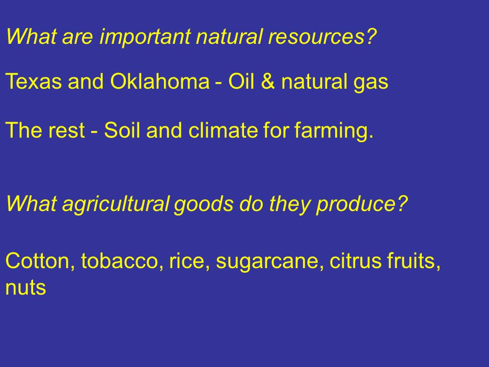 What are important natural resources