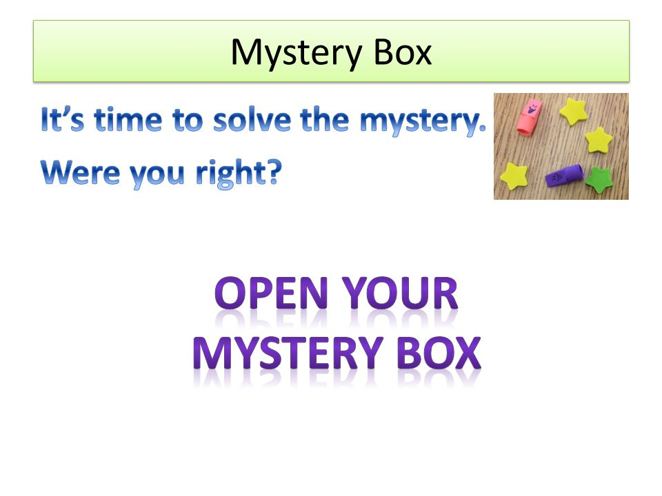 Open Your mystery box Mystery Box