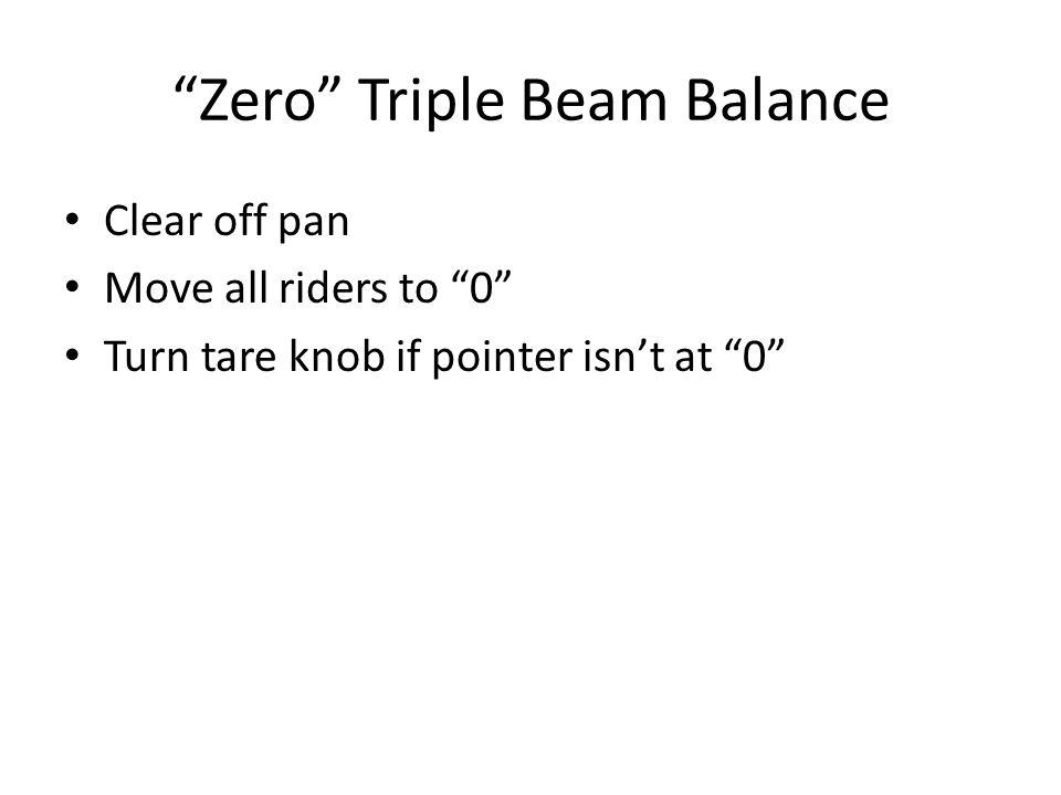 Zero Triple Beam Balance