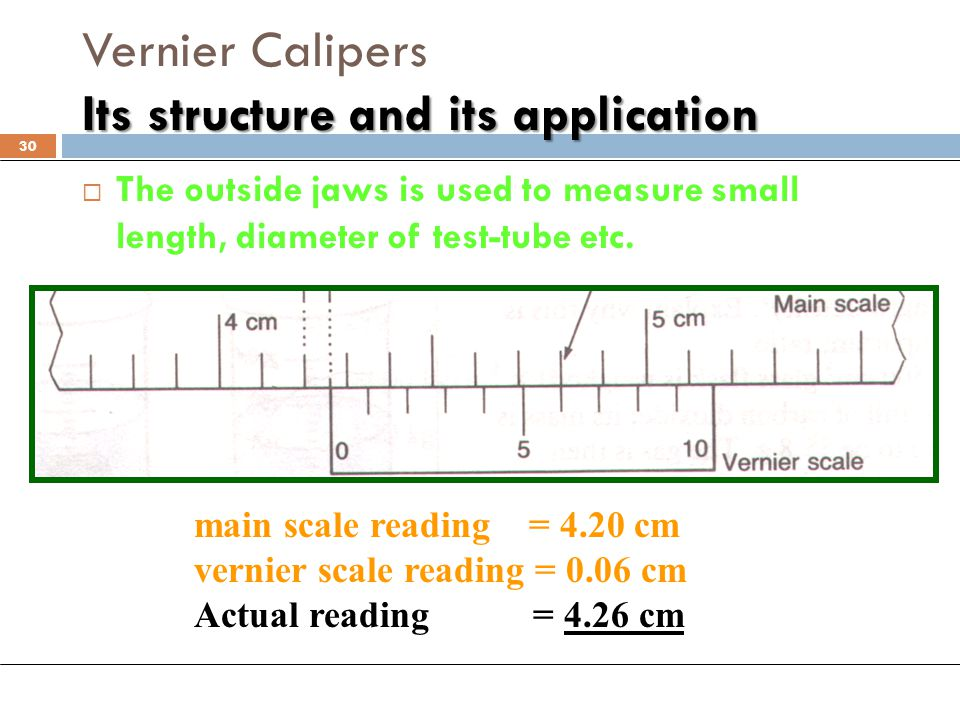 Vernier Calipers Its structure and its application