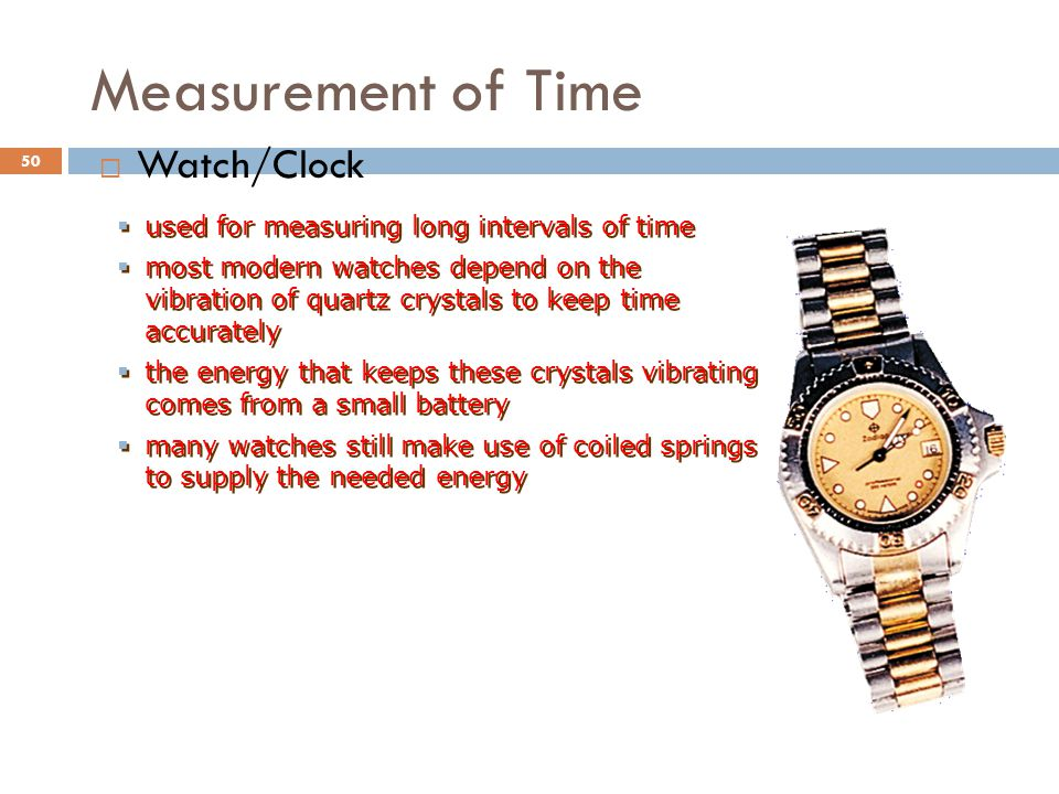 Measurement of Time Watch/Clock
