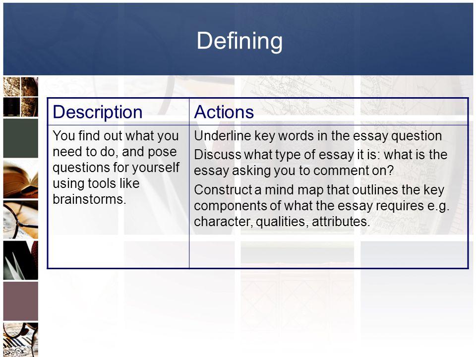Defining Description Actions