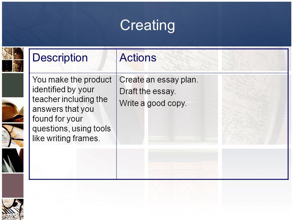 Creating Description Actions