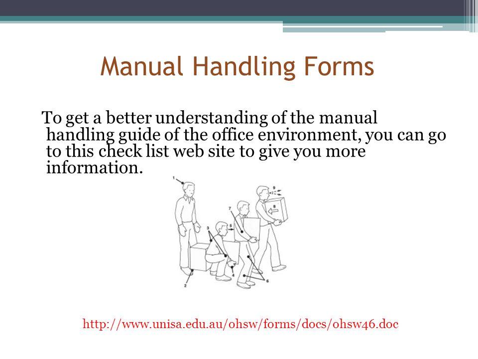 Manual Handling Forms