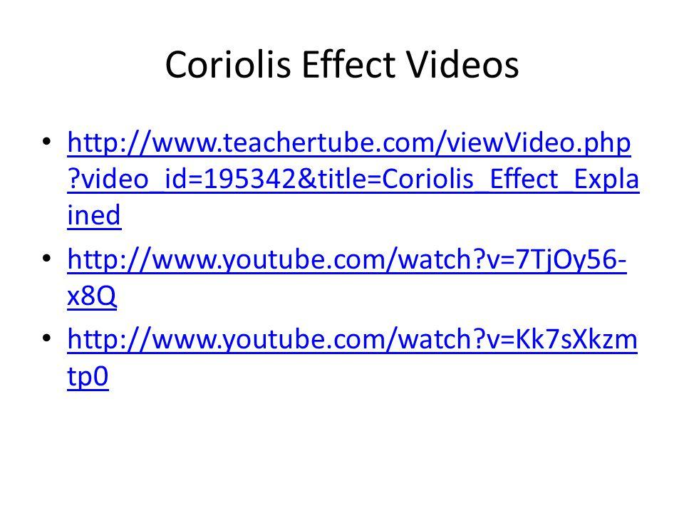 Coriolis Effect Videos