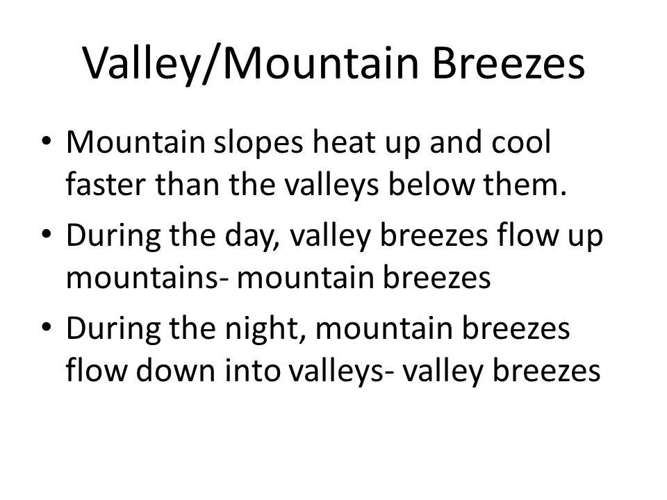 Valley/Mountain Breezes