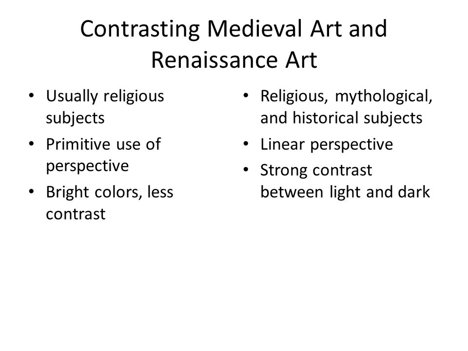 Contrasting Medieval Art and Renaissance Art