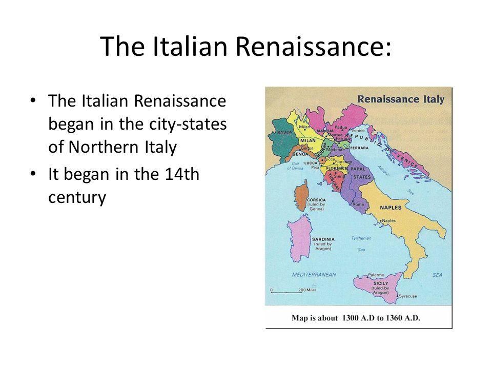 The Italian Renaissance: