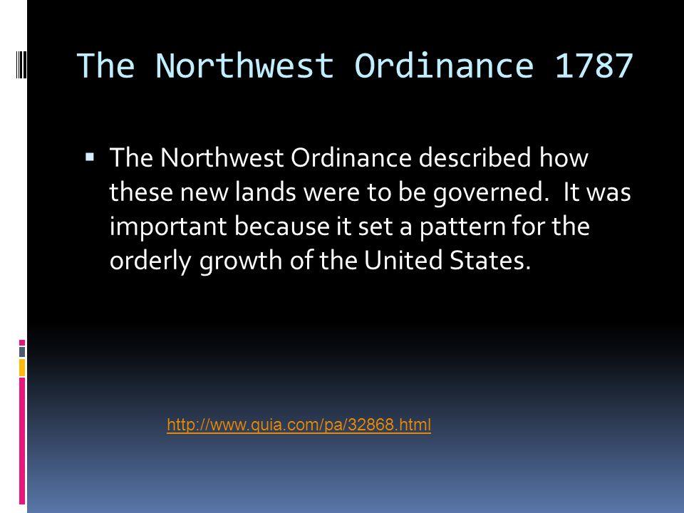 The Northwest Ordinance 1787