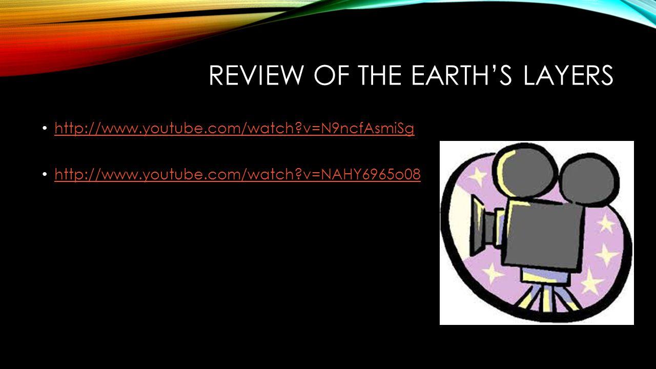 Review of the Earth's layers