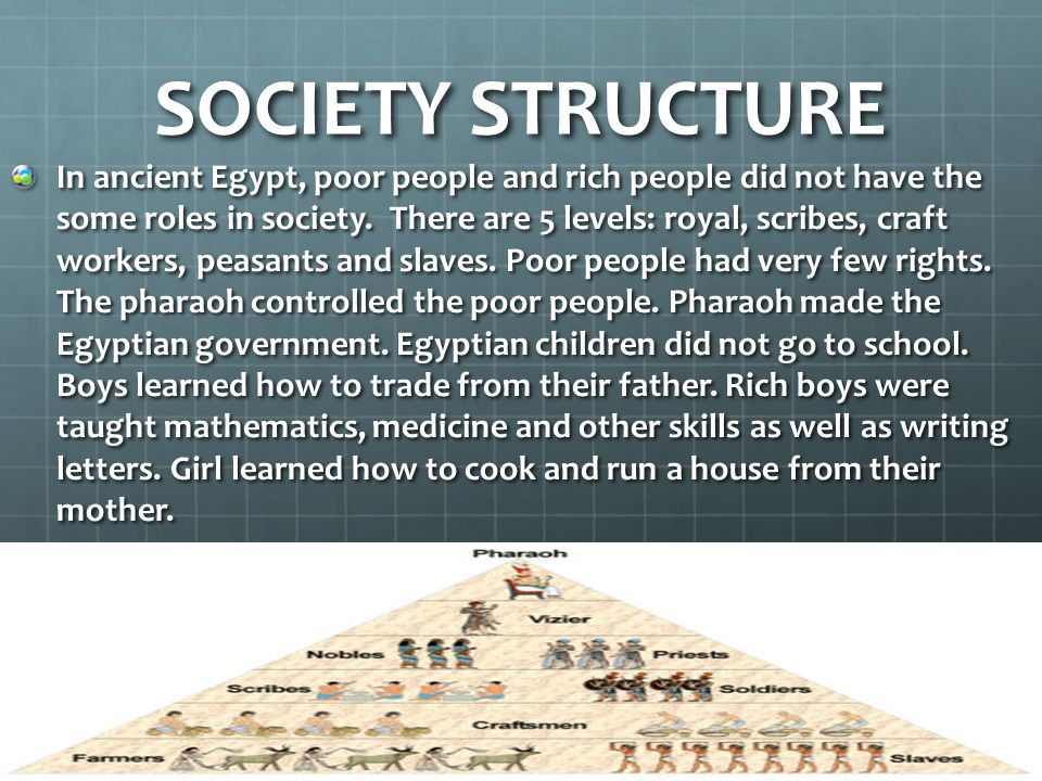 SOCIETY STRUCTURE