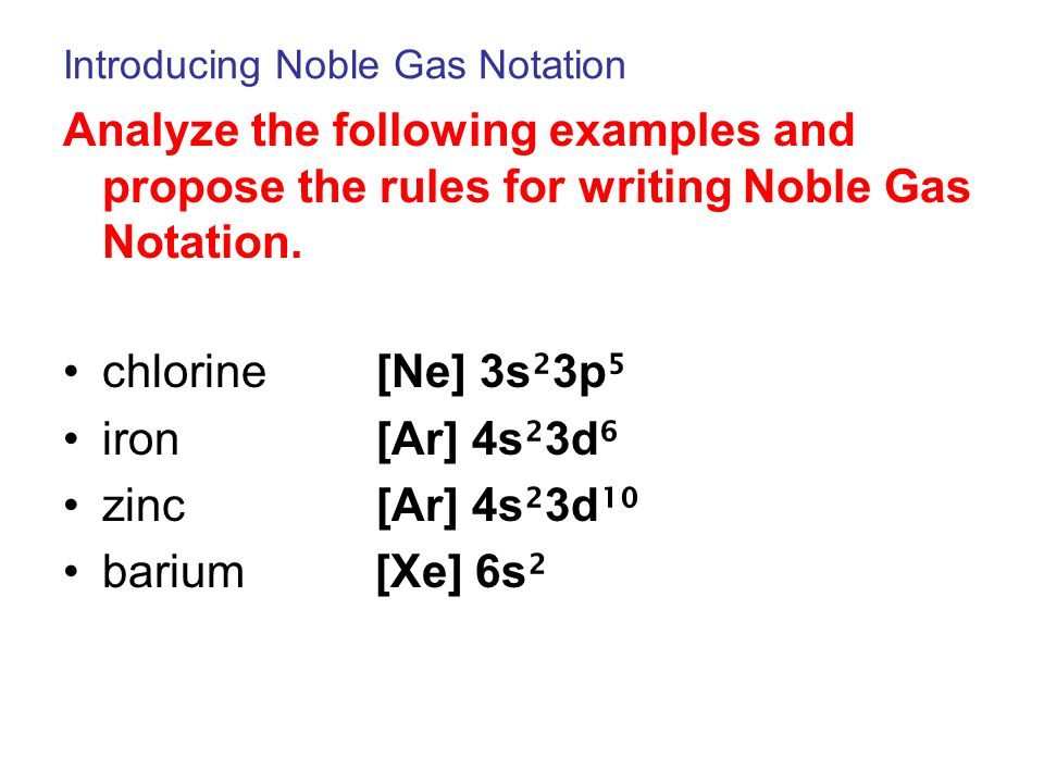 Introducing Noble Gas Notation