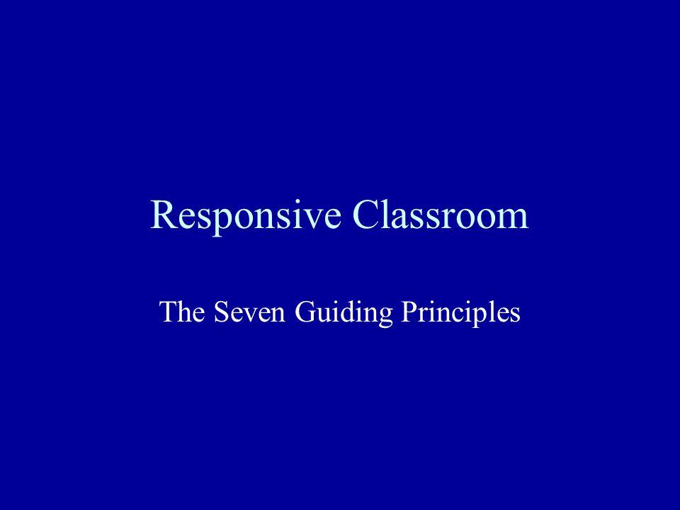 The Seven Guiding Principles