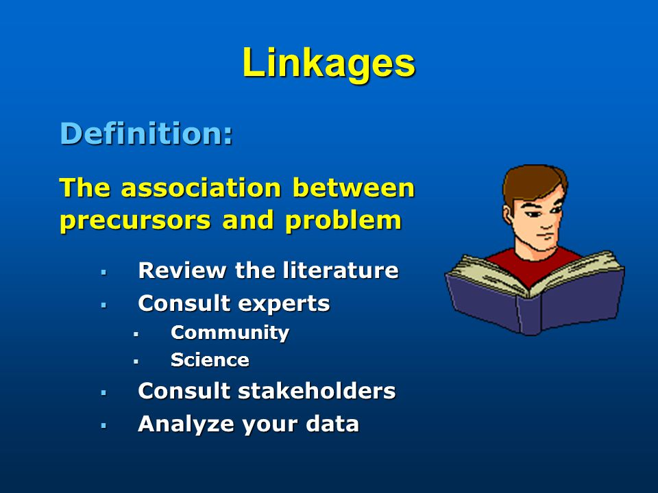 Linkages precursors and problem Definition: The association between
