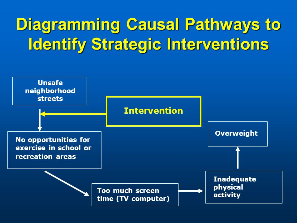 Diagramming Causal Pathways to Identify Strategic Interventions