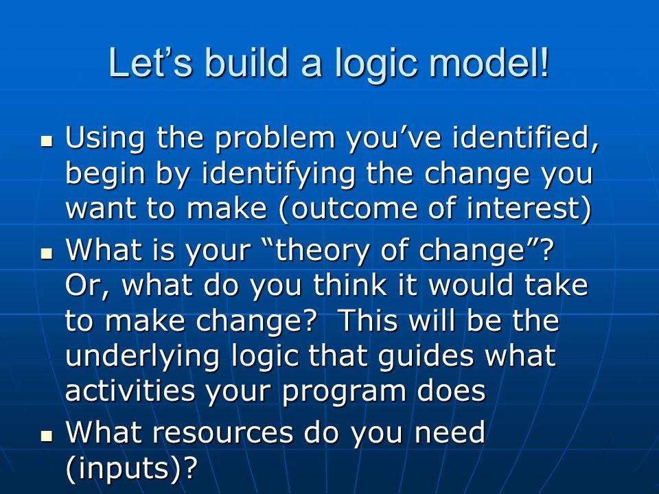 Let's build a logic model!