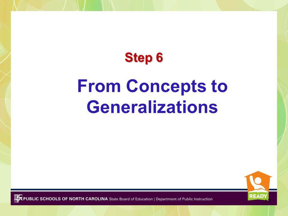 From Concepts to Generalizations