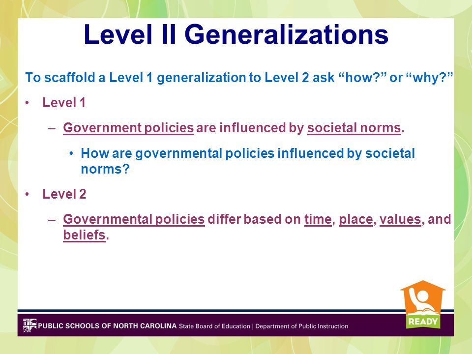 Level II Generalizations