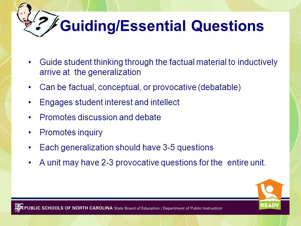 Guiding/Essential Questions
