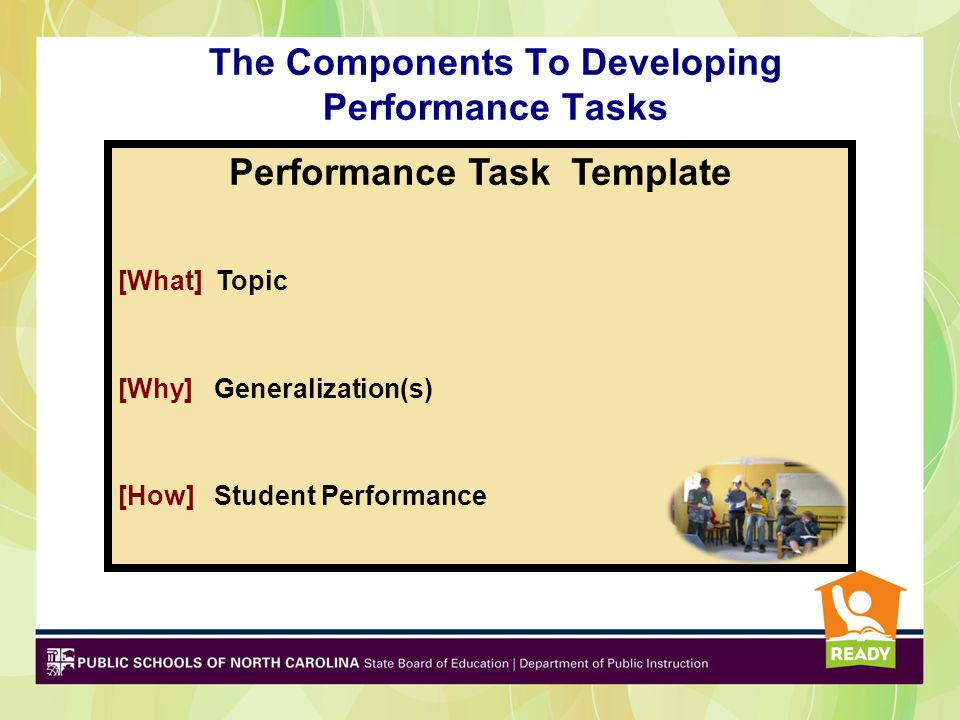 The Components To Developing Performance Tasks