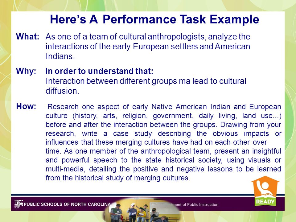 Here's A Performance Task Example
