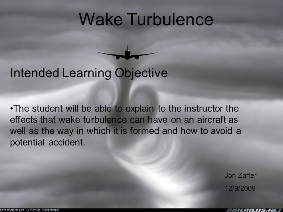 Wake Turbulence Intended Learning Objective