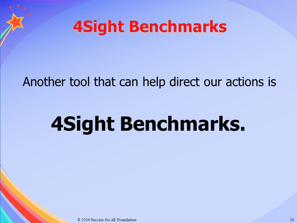4Sight Benchmarks. 4Sight Benchmarks