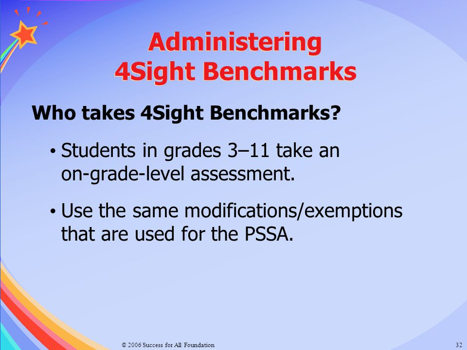 Administering 4Sight Benchmarks