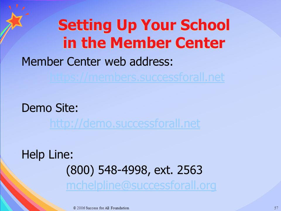 Setting Up Your School in the Member Center