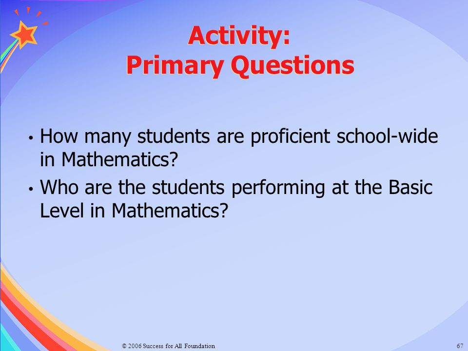 Activity: Primary Questions