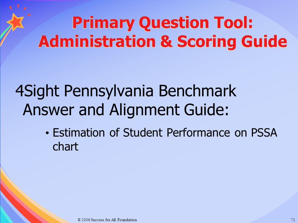 Primary Question Tool: Administration & Scoring Guide