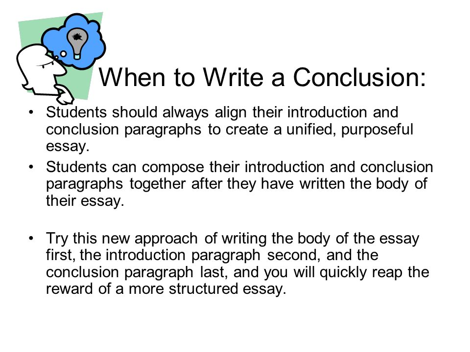 How to write a conclusion essay