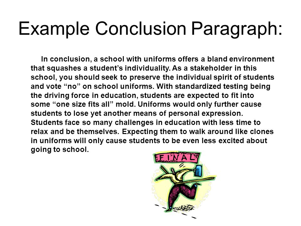good conclusion paragraph for research paper Finally, you might want to close your introductory paragraph with a short conclusion sentence a strong introduction to an essay can hook the reader, creating a desire for more that's why it is important to craft the best introduction paragraph possible.