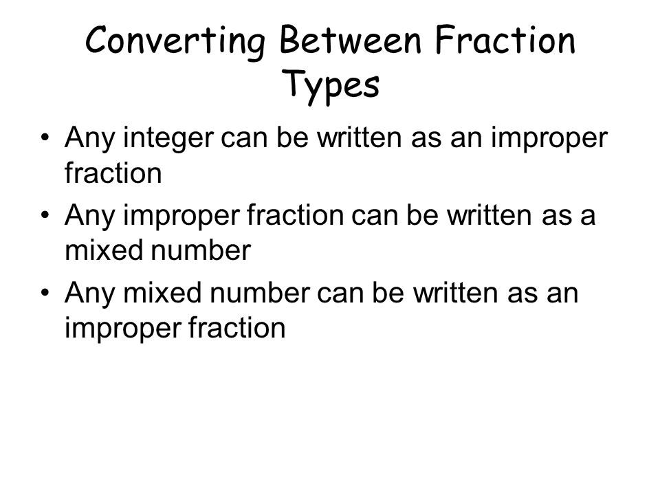 Converting Between Fraction Types