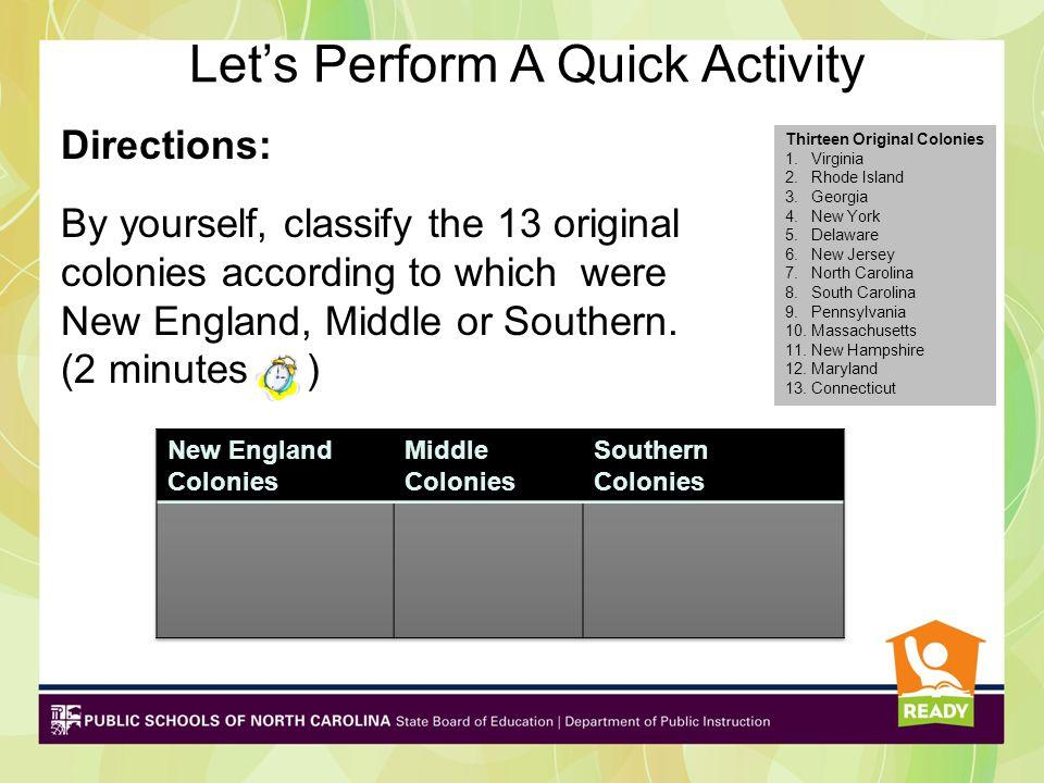 Let's Perform A Quick Activity