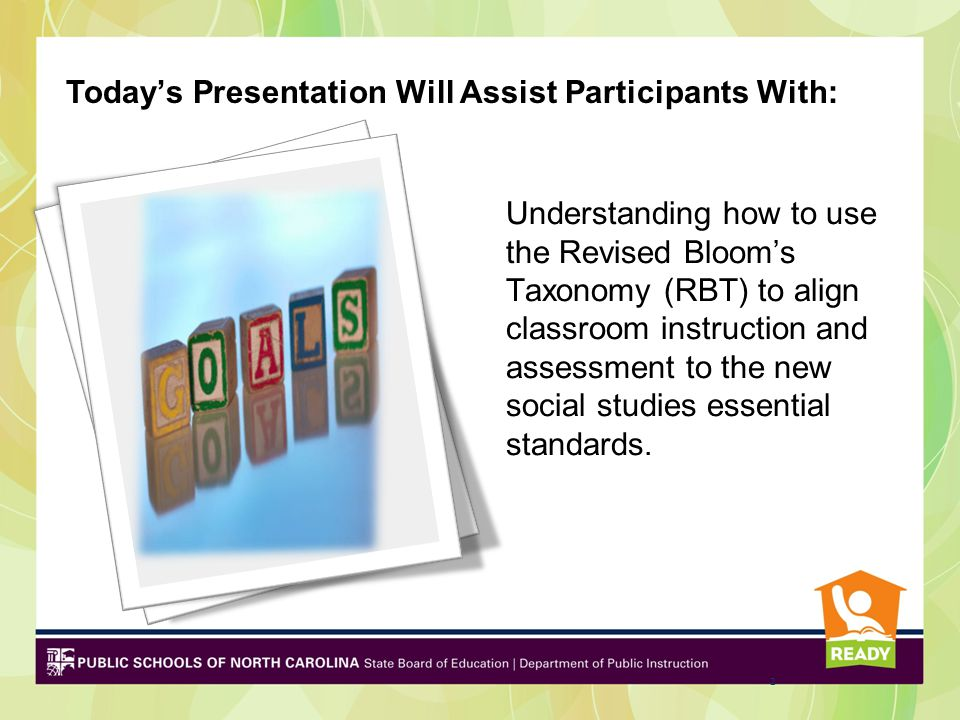 Today's Presentation Will Assist Participants With: