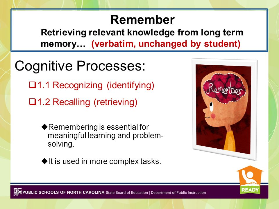 Remember Retrieving relevant knowledge from long term memory… (verbatim, unchanged by student)