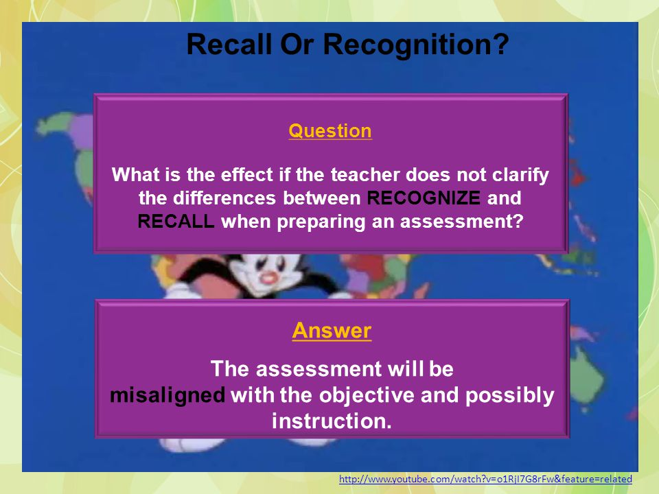 Recall Or Recognition Question