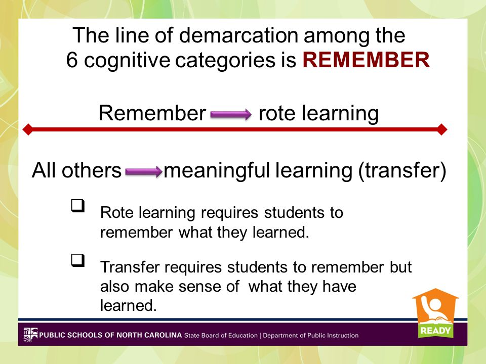 Rote learning requires students to remember what they learned.