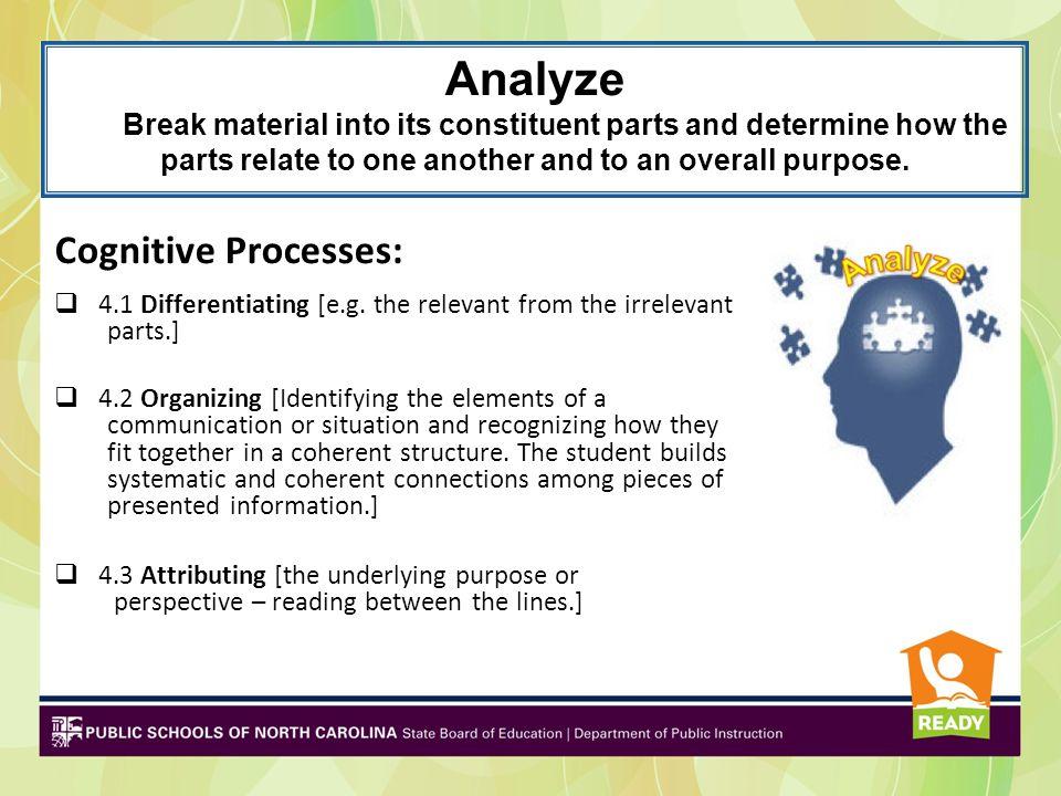 Analyze Cognitive Processes: