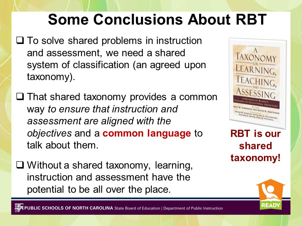 Some Conclusions About RBT