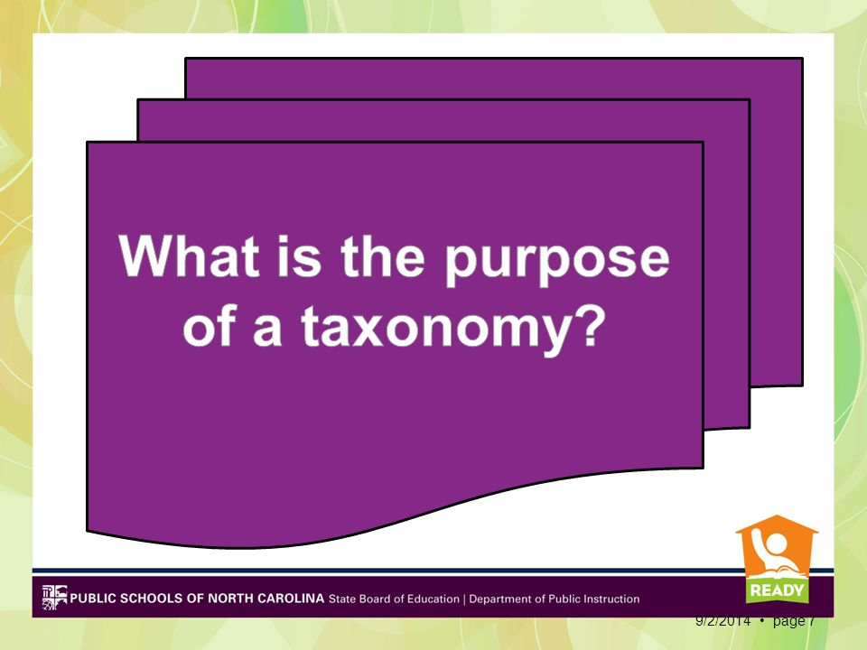 What is the purpose of a taxonomy